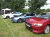 2 Lancers and a Galant at ElbeTreffen 2012