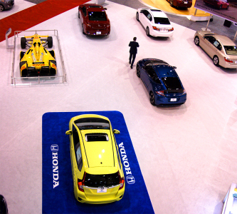 The Honda exhibit featured your favorites from pro sports and around town sedans. Photo Credit: Robert Isaacs, AON Media (Note: This photograph is a composite HDR made from multiple photos. We do this because we don't have wide angle lenses.)